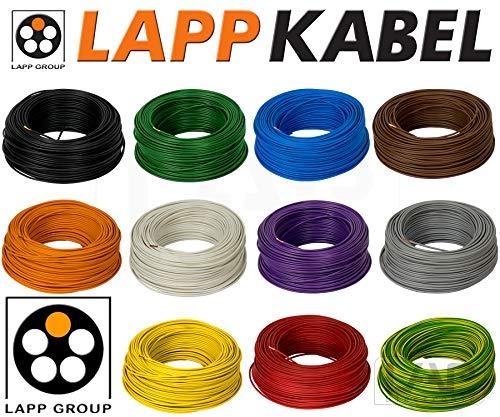 10m 4mm² LAPP Kabel H07V-K Einzelader Litze Leitung Einzelader flexibel (Rot)