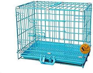 Sage Square 30 Inch Dog Metal Cage Crate with Removable Tray, Paw Protector for Dogs/Puppy/Guinea Pig/Rabbit