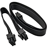 COMeap ATX CPU 8 Pin Male to Dual PCIe 2X 8 Pin (6+2) Male Power Adapter Cable for Corsair Modular Power Supply 25-inch+9-inch (63cm+23cm)
