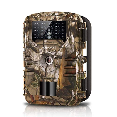 WOSPORTS Trail Camera Full HD 1080P Hunting Game Camera,Motion Activated Night Vision