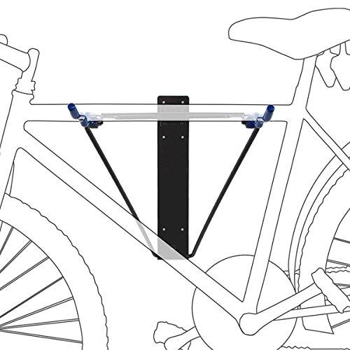 Soporte para un máximo de 2 bicicletas con 44 cm de longitud Carga máxima total: 35 Kg aprox Se monta rápido y fácil en la pared Se puede plegar fácilmente, por lo tanto, es ideal para la habitación o para el garage También es adecuado para su tabla ...