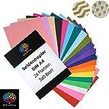 OfficeTree Carta Velina Colorata A4 per Decorazioni Creative Lavoretti per Bambini e Adulti | Semitrasparente in 26 Colori Diversi | 360 Fogli