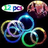 LED blinkende Armband Set Leuchtstäbe Leuchtstab Leuchtstab 6 Farbe 12 STK Licht Armbänder,...