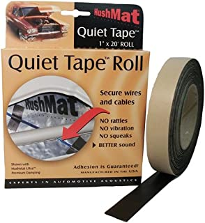 Hushmat 30300 Quiet Tape Shop Roll, 1-Inch x 20-Foot