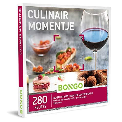 Bongo Bon - Culinair Momentje   Cadeaubonnen Cadeaukaart cadeau voor man of vrouw   280 culinaire momentjes in wijnbars, restaurants of koffie- en theehuizen