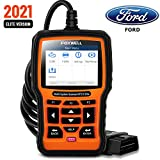 FOXWELL NT510 Elite Bidirectional Full System Diagnostic Scan Tool for Ford Lincoln Mercury, HVAC 4WD OBD2 Scanner Code Reader with ABS Bleeding/Oil Reset/SRS/EPB/SAS/TPS/TPMS/DPF/Battery/Active Test