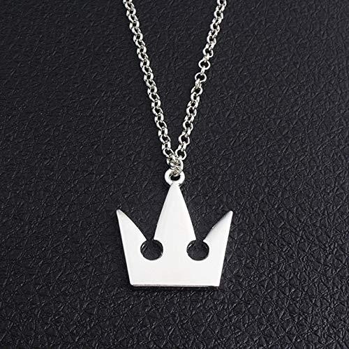 NHP Collana con Corona di Kingdom Hearts, Portachiavi, Ciondolo in Metallo(Color:Necklace)