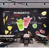 HDOUBR Custom Wall Mural 3D Creative Beverage Juice Art