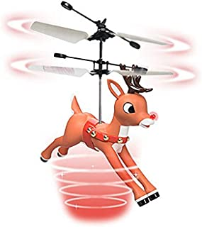 Rudolph Magic Flyer Toy - Twin Propellers, Proximity Sensor & Light-Up Nose
