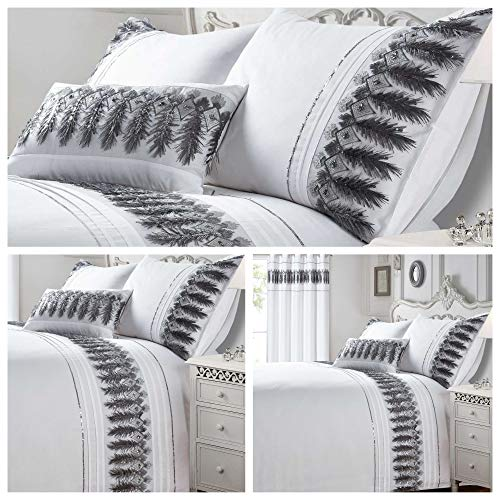 Bedding Heaven Beautifully Embellished FEATHERS Duvet Cover. Available in Double, King Size, Super King Size. Boudoir Cushion also available.