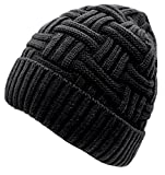 Loritta 1-2 Pack Winter Hat Warm Knitted Wool Thick Baggy Slouchy Beanie Skull Cap for Men Women Gifts,1 Pack