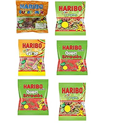 haribo sweets (6 x assorted bags) suitable for vegetarian - 780g total Haribo Sweets (6 X Assorted Bags) Suitable for Vegetarian – 730g Total 51TNAIXc yL