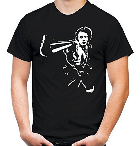 Dirty Harry Männer und Herren T-Shirt   Spruch Kleidung Outfit Geschenk (XXXXL, Schwarz)