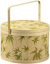 Outdoor camping picnic bag Bamboo Rattan Outdoor Picnic Baskets Camping Shopping Gift Storage Baskets Fruit Snack Bamboo S...