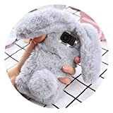 Fluffy Fur Silicone Phone Cases for iPhone X 8 7 6S Plus for Samsung for Galaxy S9 S8 Plus S7 S6 Edge Case Bling Back Cover Shell,Gray,for A7 A720 2017