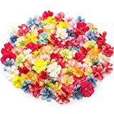 100 Pieces Fake Flower Heads in Bulk Wholesale Colorful Artificial Flower Heads Artificial Silk Plum Blossom Heads for Home Room Wedding Party Marriage Car Shoes Hats Corsage Accessory Decor, 1.8 Inch
