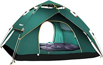 Charhoden  SQ-081-L Single Layer Tent Camping Tent Outdoor Automatic Tent Waterproof / Rain-Proof for Camping Green - Green, Large