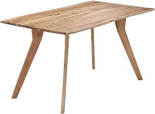 vidaXL Bois d'Acacia Massif Table de Salle à Manger Table à Dîner Meuble de Cuisine Table de Repas Mobilier à Dîner Maison...