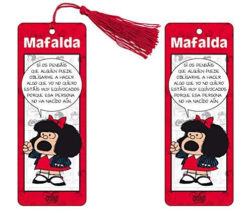 Marcapaginas 3D Mafalda (color rojo)