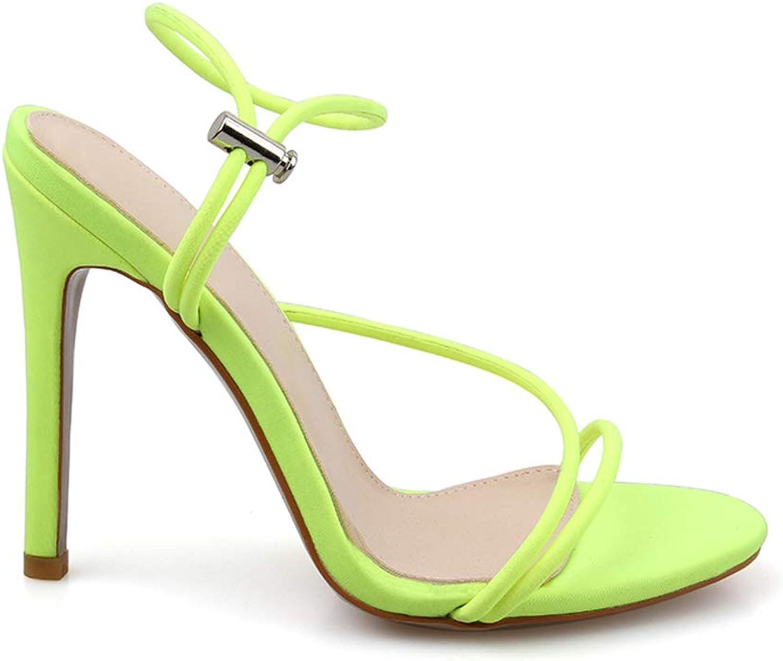 Jranter Ankle Strap Cross-Tied Women Sandals High Heels Grain Lace-Up Sandal