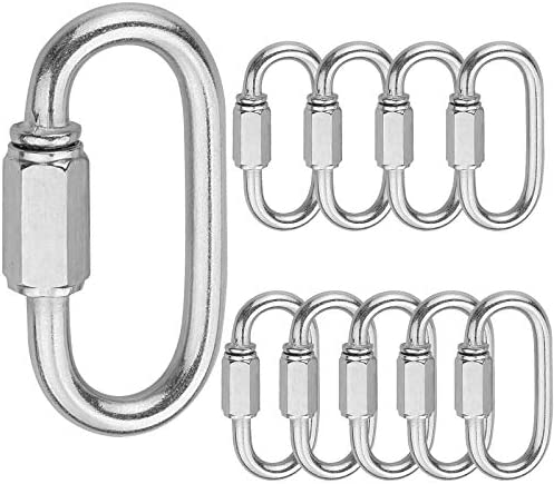 Holan M5 Quick Link Oval Carabine 10pcs 3 16 Quick Links Chain Connector Locking Carabiner Clip product image