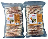 Boots & Barkley Chicken Wrapped Rawhide Twists - 100 Count Bag - 2 Pack