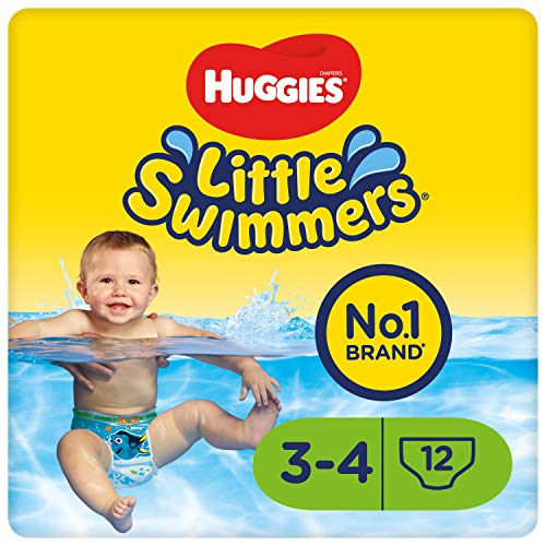 Huggies Little Swimmers Einweg-Schwimmwindeln für Babys und Kinder, Größe 3-4 (7-15 kg), 12 Windeln, Unisex