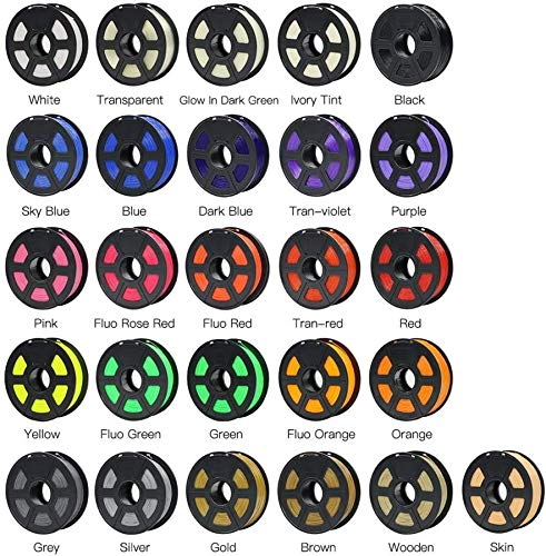 Wghz 3D Printer 1kg PLA Fliament 4Max Chiron 1.75mm 26 colors Available Raw Material Plastic impressora 3d filament Color : Glow in Dark Green