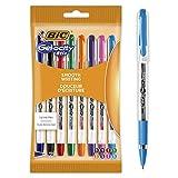 BIC Gel-ocity Stic Bolígrafos de Gel Punta Fina (0,5mm) - Varios Colores, Pack de8