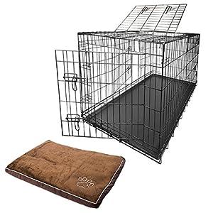 Nemaxx Cage de transport métallique et pliable pour chien