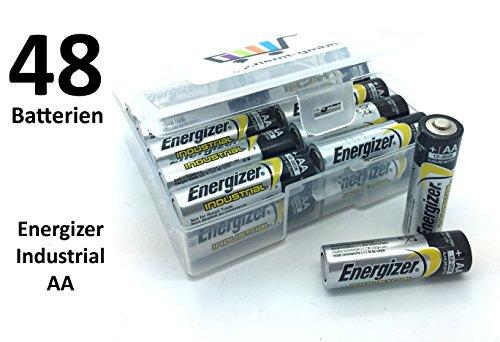 48 Batterien (2x24) Energizer Industrial AA Mignon LR06 in Flachbox