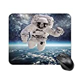 Yilooom Outer Space Theme Astronaut in Milkyway Rectangle Non Slip Rubber Mousepad Gaming Mouse Pad