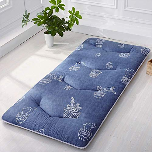 JKL J-Almohada Dormir Tatami Estera del Piso, futón Cojines de ratón, Acolchado Transpirable for colchón Topper, Suelo de colchón, for el Estudiante compartida (Color : C, Size : 90x190cm(35x75inch))