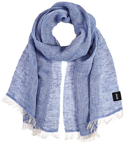 BOSS Herren Nicandro Schal, Blau (Dark Blue 404), One Size (Herstellergröße: ONESI)