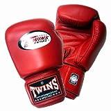 Twins ボクシンググローブ 本革製 16オンス レッド