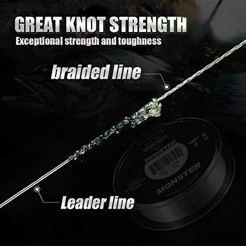 SeaKnight W8 8 Strands Braided Lines 300M/500M Smooth PE Braid Multifilament Carp Fishing Lines Saltwater for Sea Fishing 15-100LB