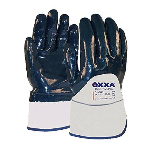 Oxxa 1 51 080 Handschuh X-Nitrile Pro Stulpe offen Größe 10
