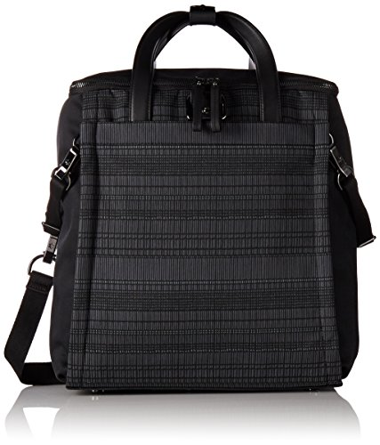 Skip Hop 200501 Highline Convertible Diaper Backpack Oyster / Stripe graniet/zwart
