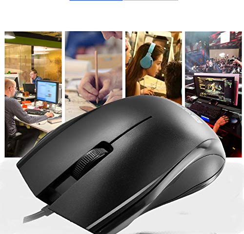 Vander Life 3-Button Optical USB Wired Mouse with 5ft Cord, 1000 DPI, Compatible with PC, Mac, Desktop and Laptop