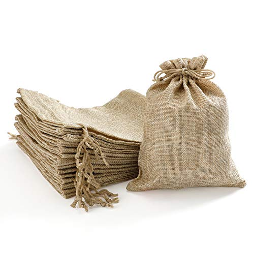 Homealexa 20 Stücke Jutesäckchen Jute Beutel 15 x 20 cm Säcke für Adventskalender Schmuck Gastgeschenke und DIY Handwerk, Jutebeutel, Stoffbeutel zum Befüllen - Weihnachten
