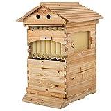 Colmena de madera con 7 panales, automática, miel, abejas, casa de abejas, casa de granjero, set de producción de miel y colmena