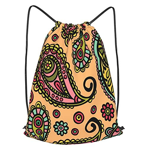 DrawstringBackpack Bags,paisley paisley pattern vector seamless ornament background,Waterproof Gym Sack Sports Yoga String Bags Cinch Bags,Home Travel Storage Use