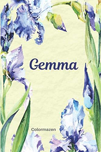 Gemma: Personalised Blue Iris Notebook...