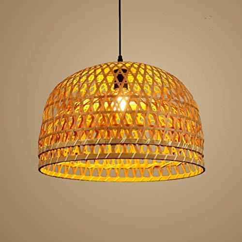 YMLSD Lámpara de Araña, Araña Hecho a Mano Linternas de Bambú Pantalla China Restaurante Casa Rural Farmhouse Retro Lámparas