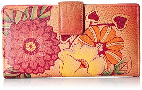Anna by Anuschka Wallet | Hand Painted Genuine Leather | Summer Bloom