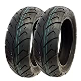 MMG Set of 2 Tires 130/70-12 Tubeless Front/Rear Motorcycle Scooter Moped