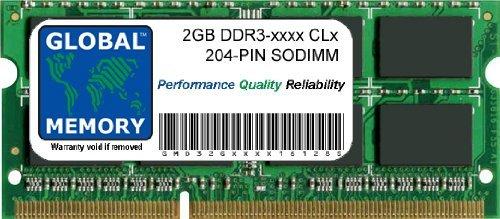 2GB DDR3 1066/1333/1600MHz 204-PIN SODIMM Memoria RAM para Ordenador PORTÁTILES/NOTEBOOKS