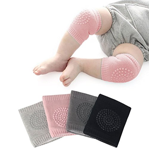 Q4U New Safety Pair Infant Toddler Baby Knee Pad Crawling Safety Protector Crawling Protective Knee/Elbow Pads for Toddler Baby Infant Kids (Pink)