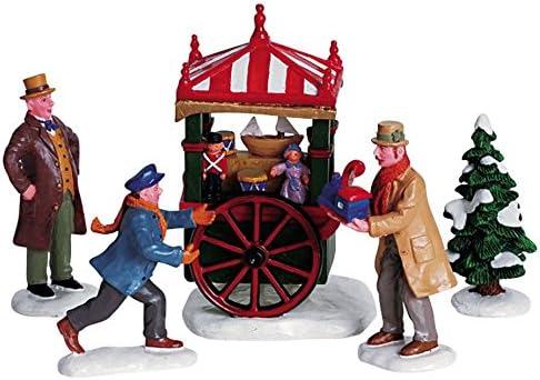 2006 Toy Peddler Set of Village Mail order Figurines Max 53% OFF 5 Christmas