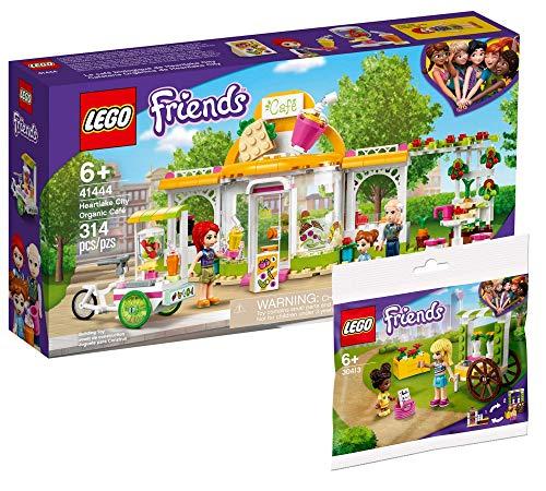 Collectix Lego Set - Friends Heartlake City Bio-Café 41444 + Friends Blumenwagen 30413 (Polybag)